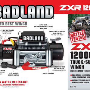 Badland ZXR 12000 LB Capacity Off-Road Vehicle Winch Unboxing