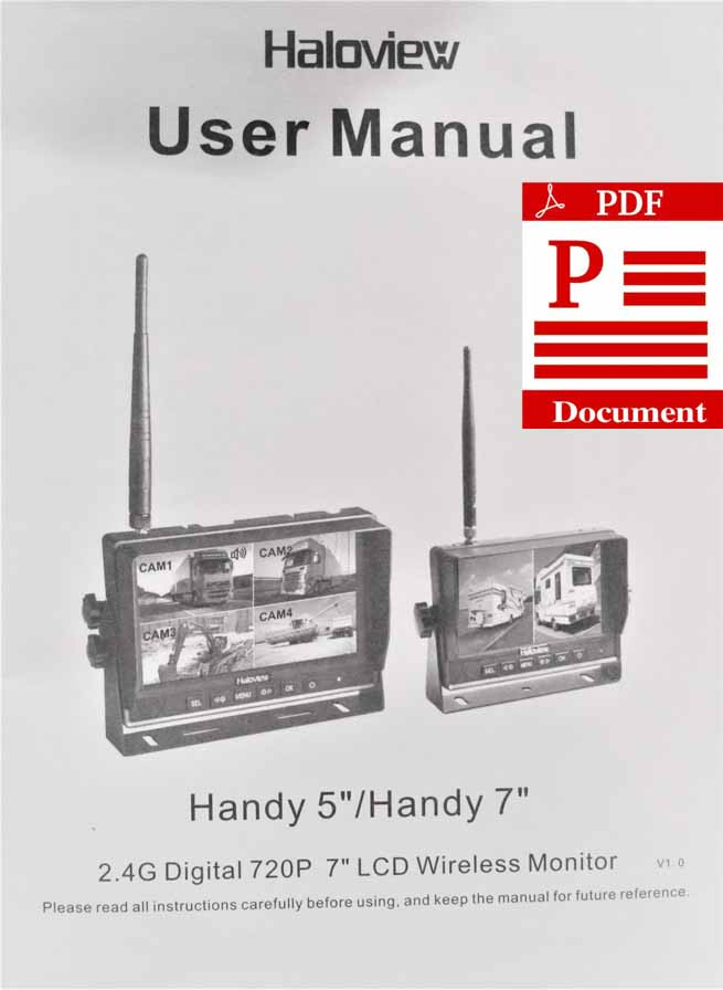 Haloview Handy 7 User manual