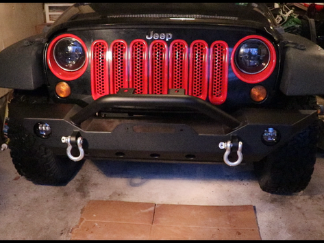 GSI Jeep Wrangler JK Front Bumper and LED Fog Lights Install & Review