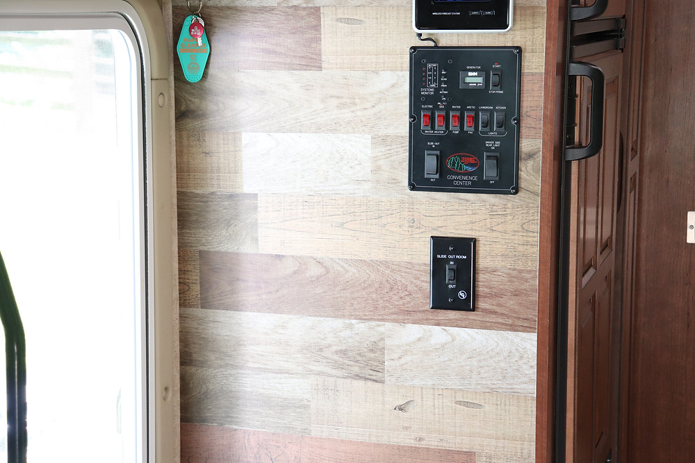 rv wall faux wood panels