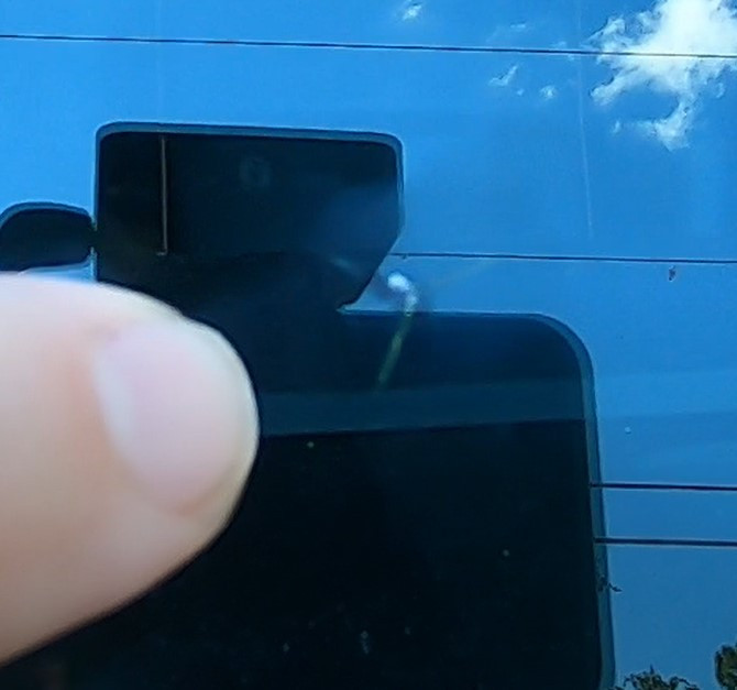 Chipped windshield