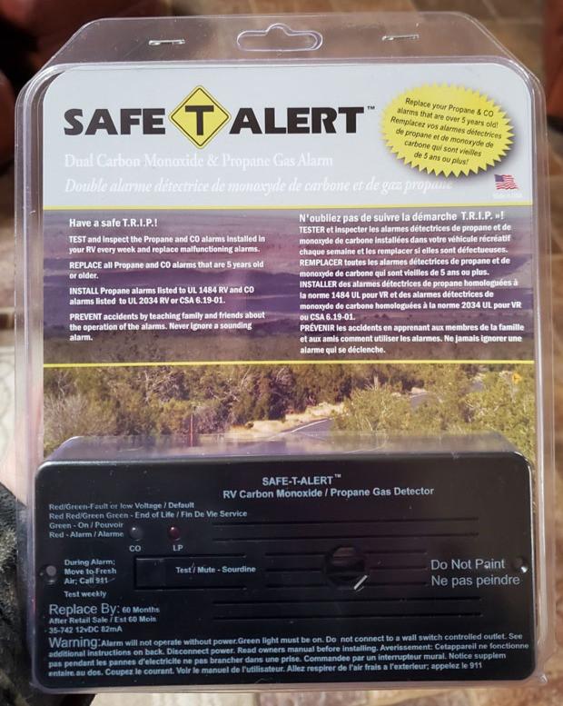 Safe-T-Alert RV LP Gas CO Detector