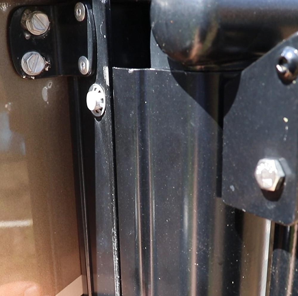 RV awning arm rail