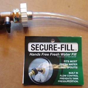 Secure-Fill Hands Free RV Fresh Water Fill