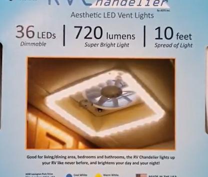 Heng's RV Chandelier Vent Trim and LED Light Kit