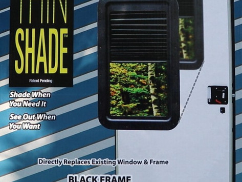 Replace The Ugly RV Door Window With AP Products Thin Shade Upgrade - How To Install Tricks And Tips