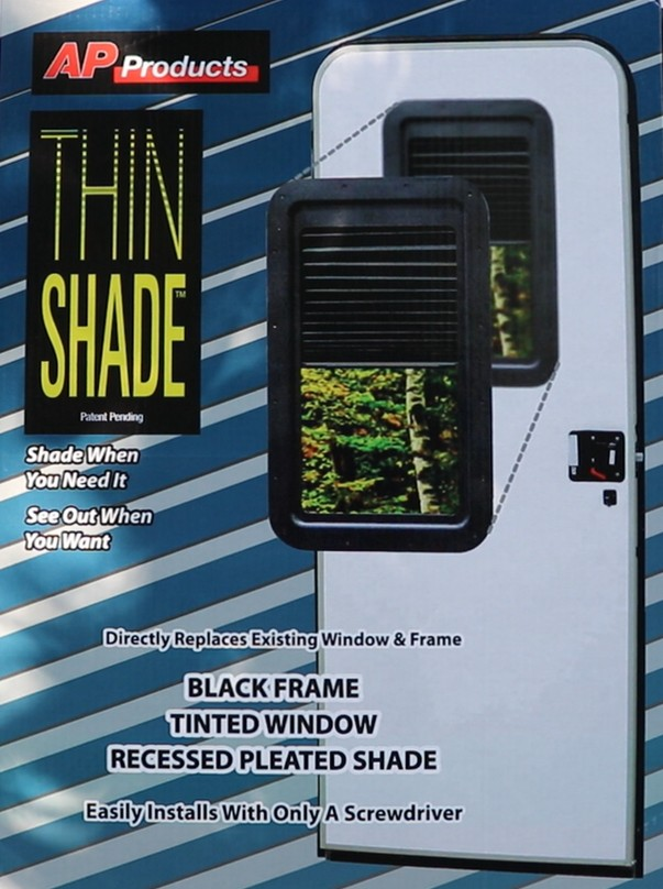 Replace The Ugly RV Door Window With AP Products Thin