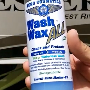 Waterless WASH WAX ALL for RV Washing and Waxing