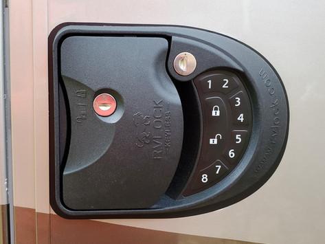 Keyless RV Entry Door Handle Lock For Your Motorhome - RVLock Install