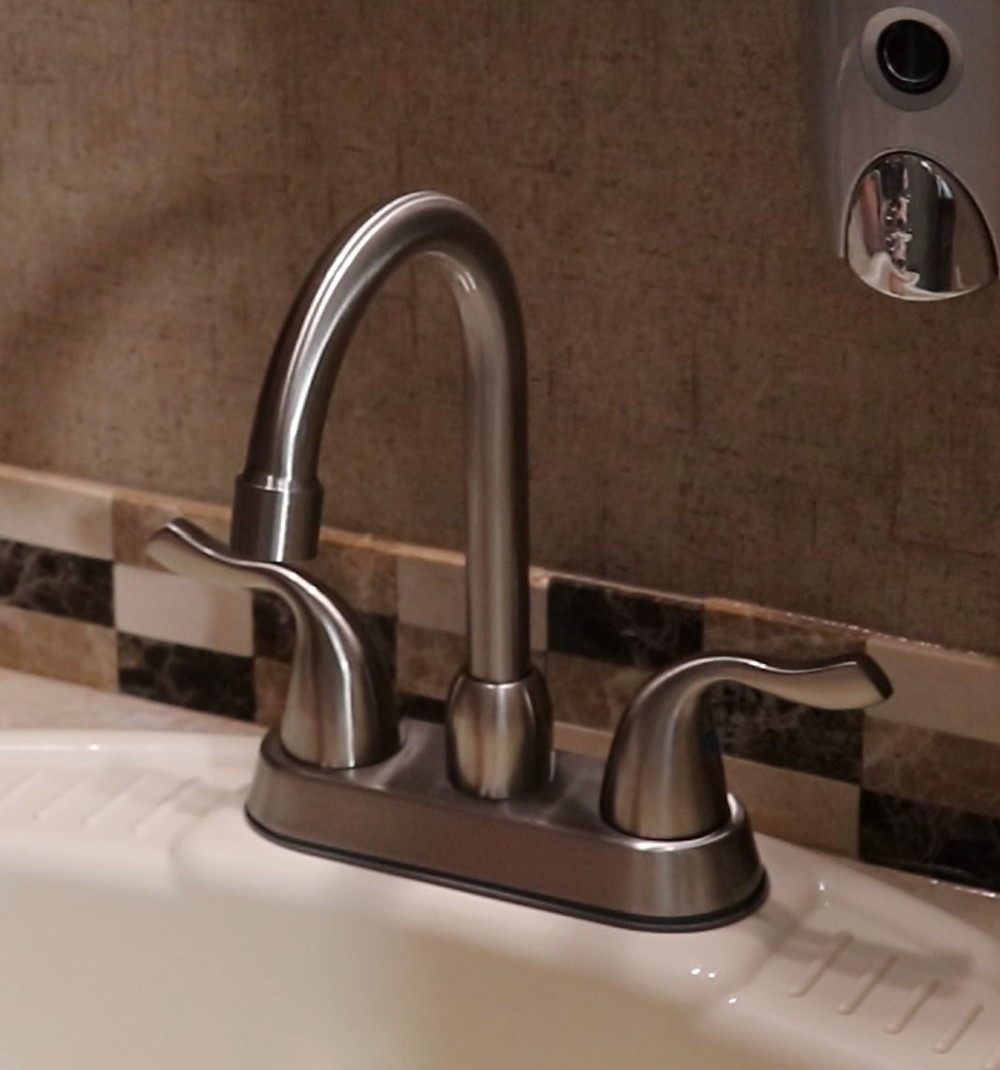 Brushed nickle bathroom faucet