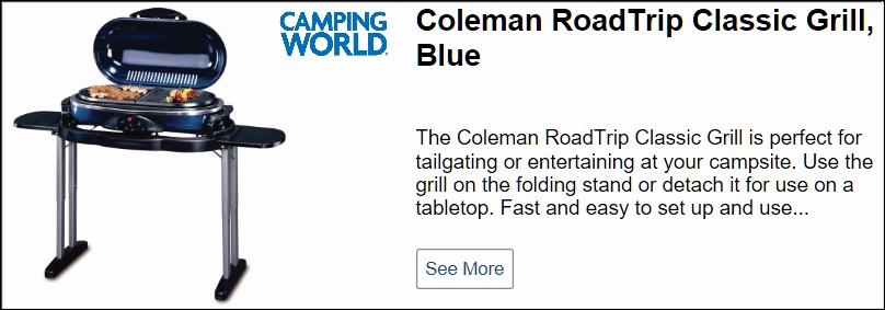 Coleman RoadTrip Classic LX Grill