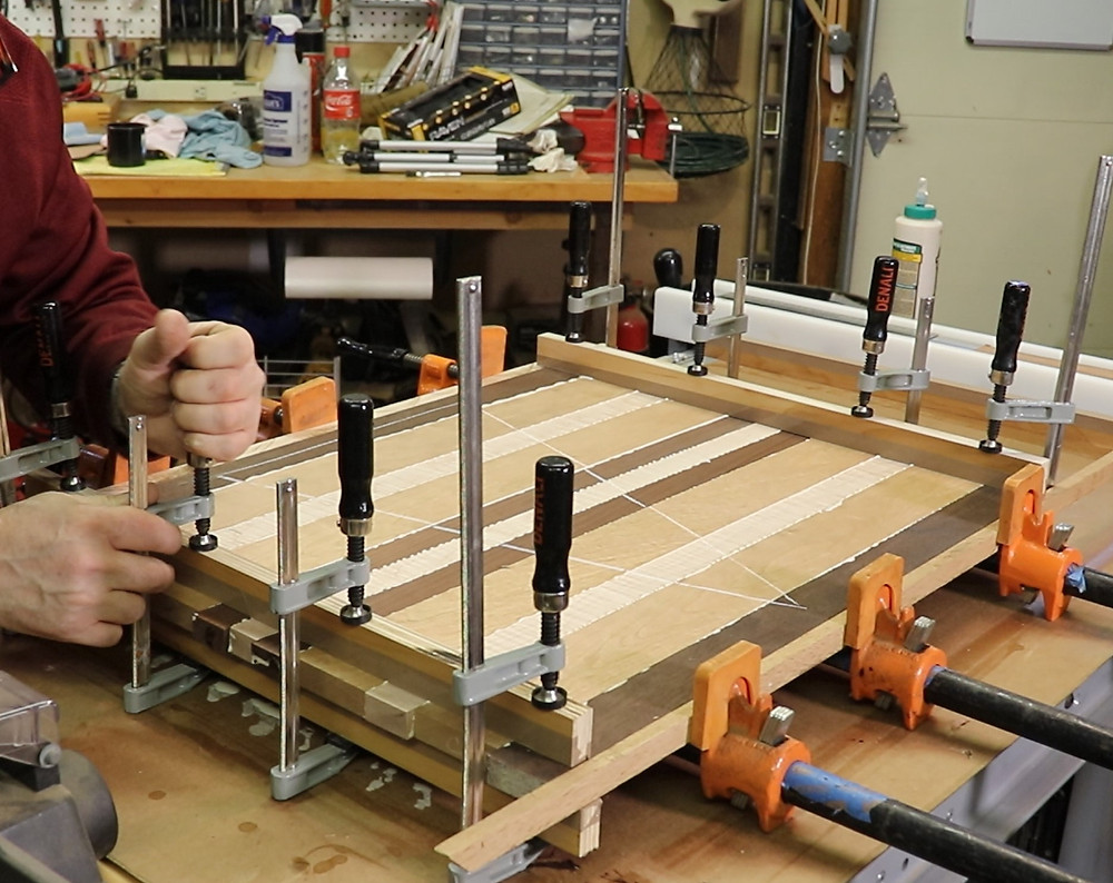 clamping and gluing a cutting board