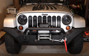 Incredible Jeep Rugged Ridge Spartan Bumper And Badland Zxr Winch Install Review Wiring Database Aboleterrageneticorg