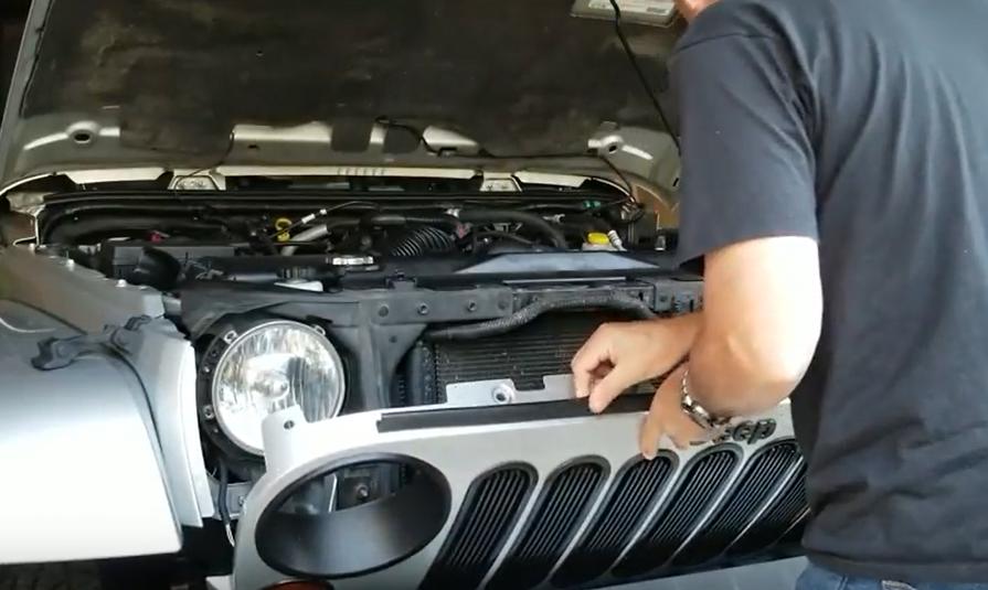 Jeep JK Black Hood Hinge Cover