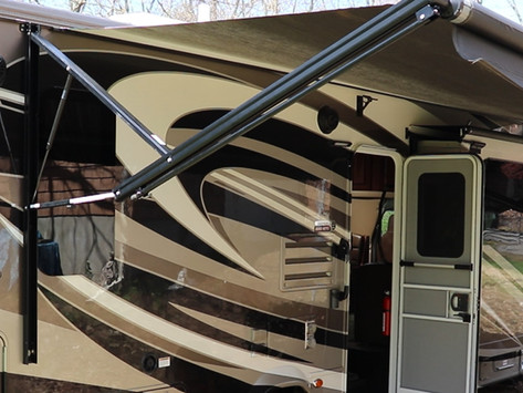 RV Awning Canvas And Arm Alignment - How To Adjust And Fix In Under Five Minutes