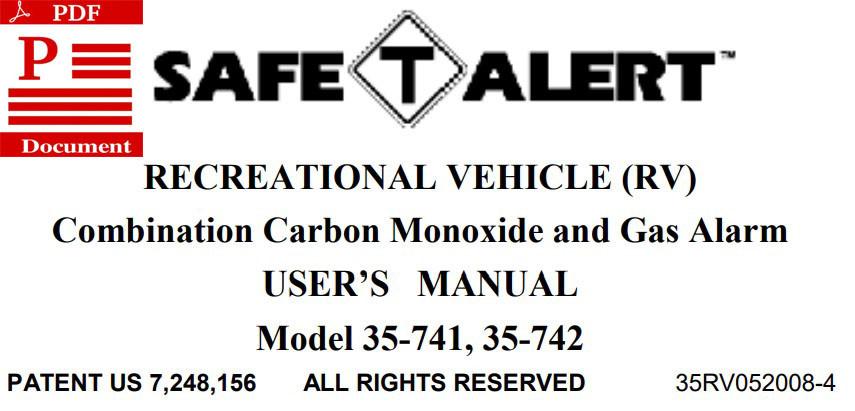 Safe-T-Alert Instruction Manual