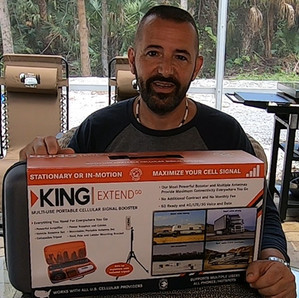 King Extend Go Multi-Use Portable Cell Signal Booster KX3000 For More Than The RV