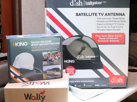 RV Dish Network, Wally, VQ4900 King Tailgater Pro Satellite Antenna and MB700 Roof Mount Install and
