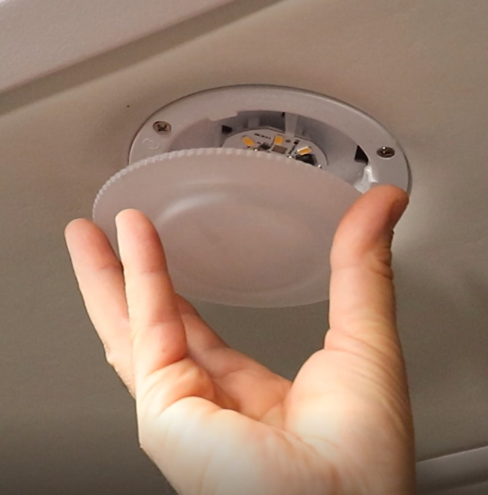 RV LED ceiling puck recessed light