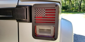 American Flag Jeep JK tail light covers