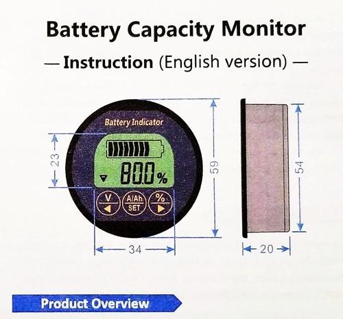 AiLi RV Battery Monitor installation instructions and operating manual