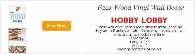 hobby lobby faux wood panels