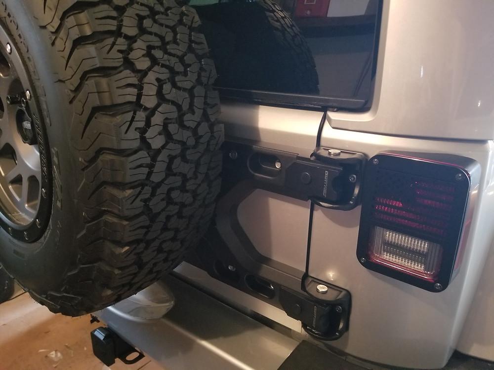 Jeep black door hinge cover