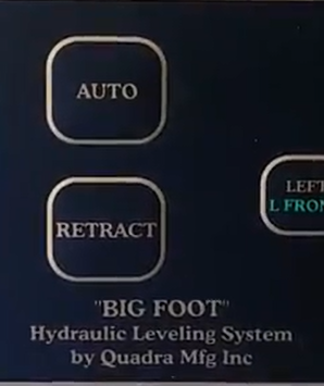 Bigfoot Hydraulic Auto Leveling System for RVs