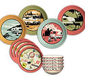 Camp Casual 12-piece dish set cc-001