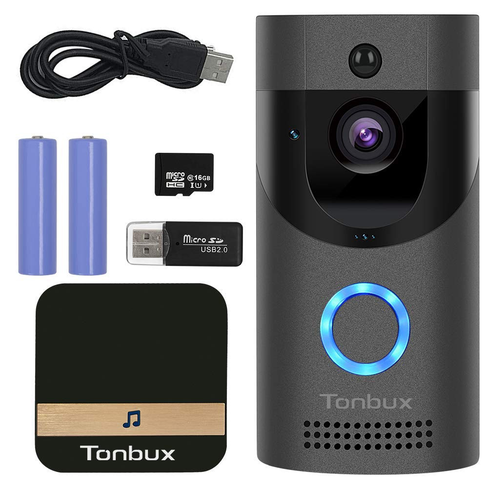 TONBUX Smart Video Doorbell Wireless Home WiFi Security Camera