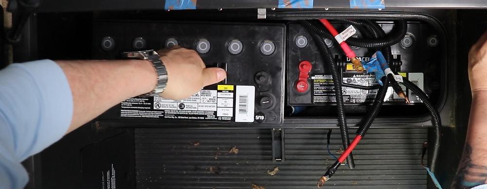 RV Battery install
