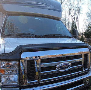 AVS Hood Bug Deflector II And Vent Visors For Class C RV – RV Upgrades