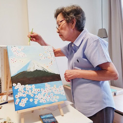 Acrylic Painting of Mt Fuji
