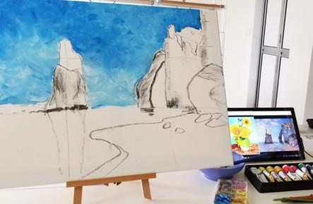 Monet workshop in progress