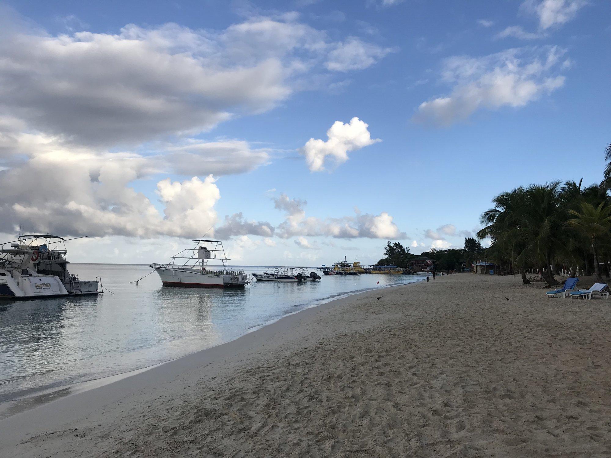 Plage de West Bay, Roatan, Honduras