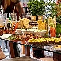 Hoje evento com comidas saudáveis !! Del