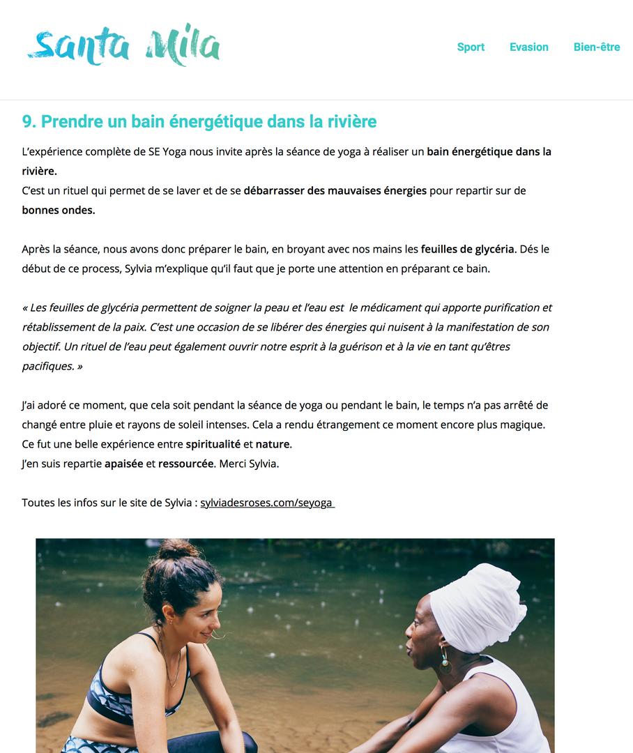 Blog Santa Mila, 10 Expériences Bien-Être à faire en Martinique, Mars 2019
