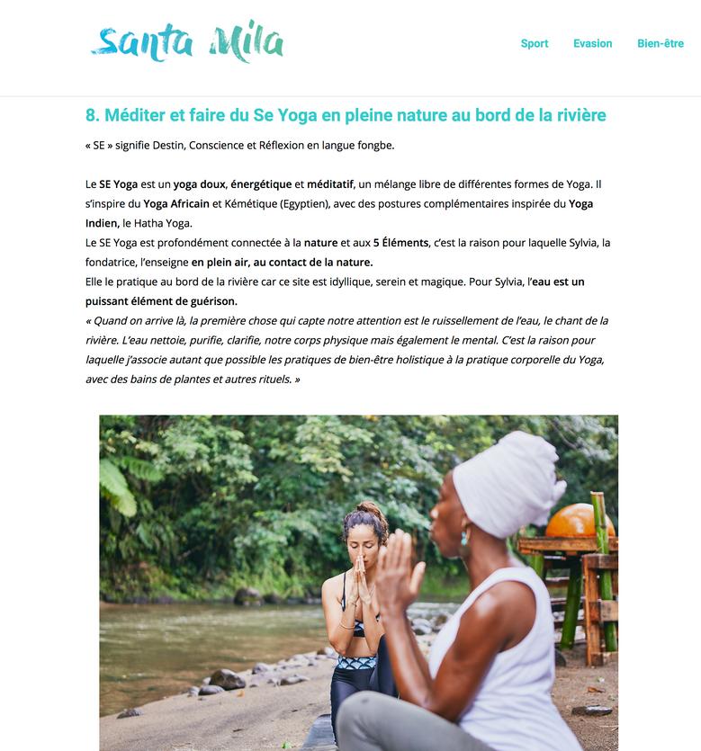 10 Expériences Bien-Être à faire en Martinique, Blog Santamila Mars 2019