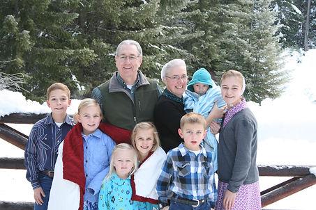 Haney with grandkids.JPG