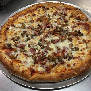 Broadway pizzeria wood fired pizza oven sausage pizza
