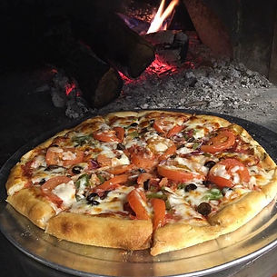 Broadway pizzeria wood fired pizza oven veggie pizza