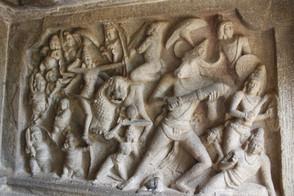 Mahishasura Mardhini Panel - Mamallapuram