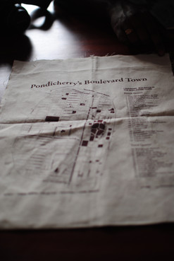 Heitage Map of Pondichery - in a Bag