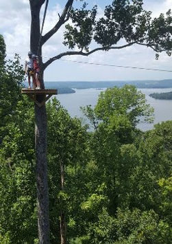 Tree platform at lake guntersville zip lines