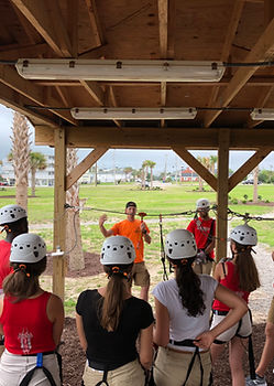 professional staff training at myrtle beach zip line adventures prepare new guides to be experts in the adventure industry