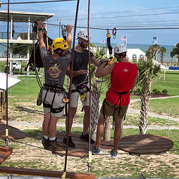 Expert training prepares new staff for rescues and retreivals at any point on a zip line or challenge course