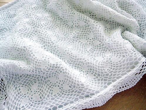 White Crochet Pillow Sham King