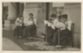 women stitching Appenzell embroidery