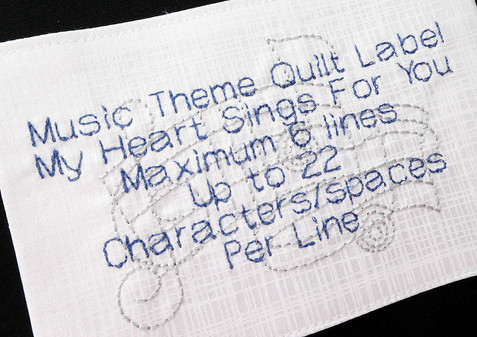 Music Theme Label
