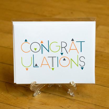 Funky Triangles Congratulations Card